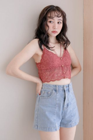 LITTLE MORE KOREA LACE BRALETTE IN DUSTY ROSE
