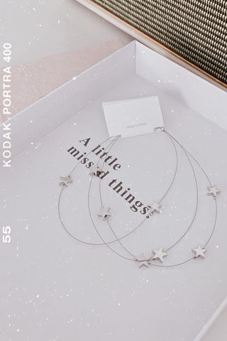 (BACKORDER) BAKED 365 DAYS KOREA LAYERED STAR NECKLACE IN SILVER