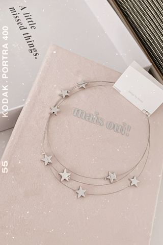 BAKED 365 DAYS KOREA LAYERED STAR NECKLACE IN SILVER
