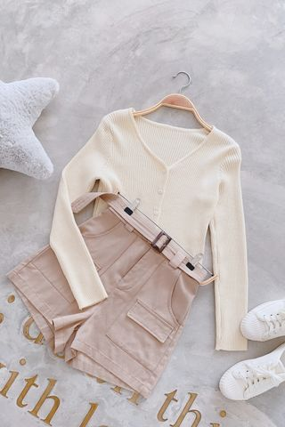 (BACKORDER) LITTLE DAY KOREA KNIT CARDIGAN IN BUTTER