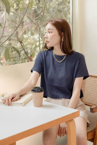 BAKED 365 DAYS KR BASIC TOP IN NAVY BLUE