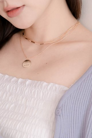 HONEY MII KOREA LAYERED NECKLACE IN GOLD