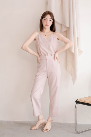 (BACKORDER XS/S/M) BAKE -5KG SPLIT HEM TAILORED PANTS IN BABY NUDE