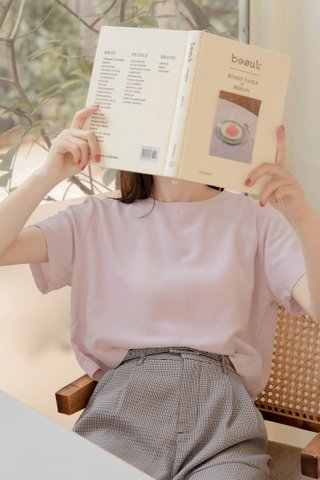 BAKED 365 DAYS KR BASIC TOP IN BABY PINK