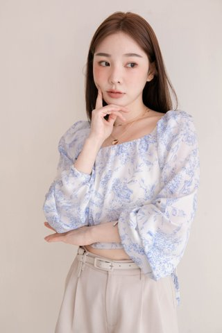HONEY MII KR TIE-DYE PRINT TOP