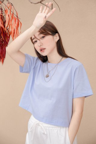(BACKORDER S/M) BAKED 365 DAYS KR BASIC TOP IN BABY BLUE