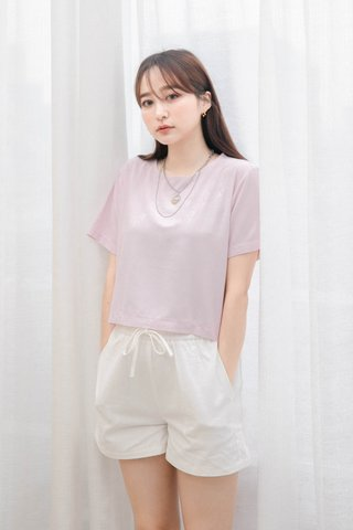 (BACKORDER S) BAKED 365 DAYS KR BASIC TOP IN BABY PINK