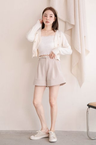 (BACKORDER 2) BAKED 365 DAYS KR EMBROIDERY FLORAL CARDIGAN IN CREAM