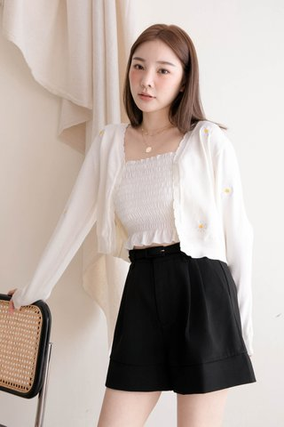 THE BUTTERS KR DAISY CARDIGAN IN WHITE