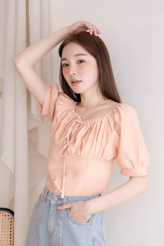 HONEY MII KR TWO WAYS TOP IN BABY CORAL