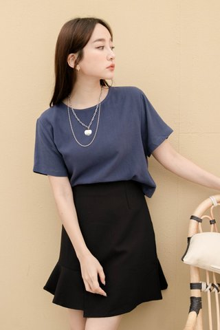 (BACKORDER S) BAKED 365 DAYS KR BASIC TOP IN NAVY BLUE