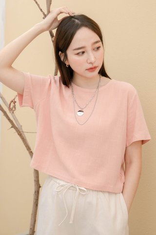 (BACKORDER S) BAKED 365 DAYS KR BASIC TOP IN BABY CORAL