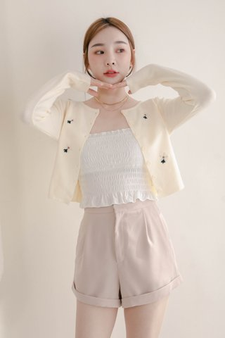 (BACKORDER) VERY VELY KR FLORAL CARDIGAN IN CREAM