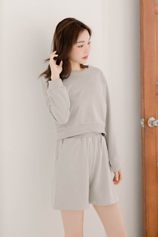 BUT LITTLE BUN KR PULLOVER SET IN BABY GREY