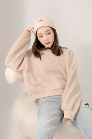 HONEY BAKED KR FLURRY SWEATER IN BABY NUDE