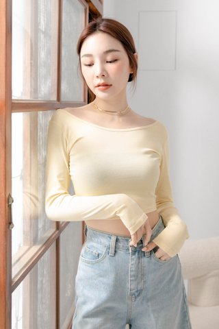 (BACKORDER) HANNAH KR BASIC TOP IN BUTTER