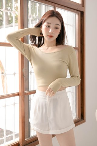 HANNAH KR BASIC TOP IN MATCHA