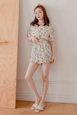 BUT SOME KR FLORAL ROMPER IN BUTTER
