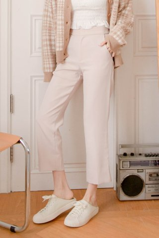 BAKE -5KG SPLIT HEM TAILORED PANTS IN BABY NUDE