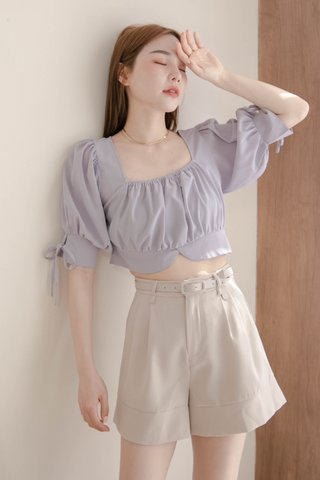 (BACKORDER S/M) LATTE KR A'MADE SQUARE NECK TOP IN BABY YAM