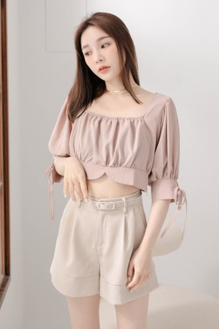 (BACKORDER S/M) LATTE KR A'MADE SQUARE NECK TOP IN DUSTY BLUSH