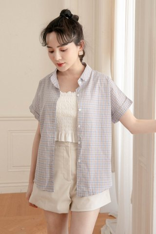 BUTTER TOAST KR CHECKERED SHIRT IN NUDE