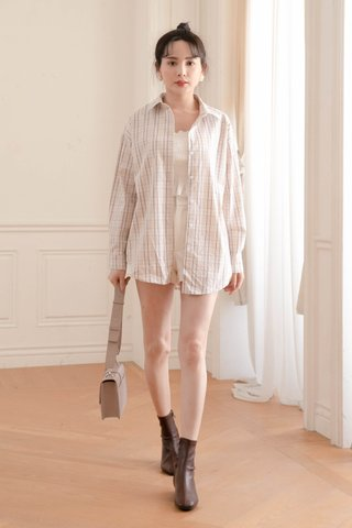BUTTER TOAST KR CHECKERED SHIRT IN CREAM