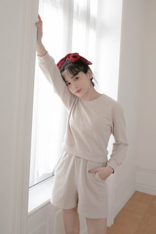 BUTTER TOAST KR PULLOVER SET IN CREAM