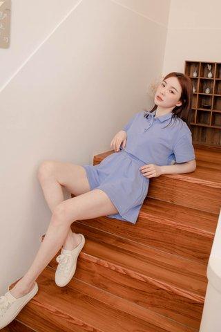 (BACKORDER S-XS / M-L) BUTTER BAKERY KOREA PULLOVER SET IN HONEY BLUE